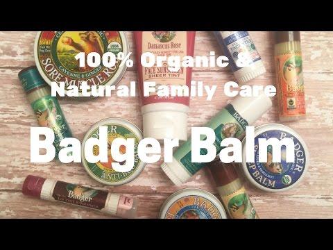 BADGER BALM: 100% Natural, USDA Organic, Cruelty-Free