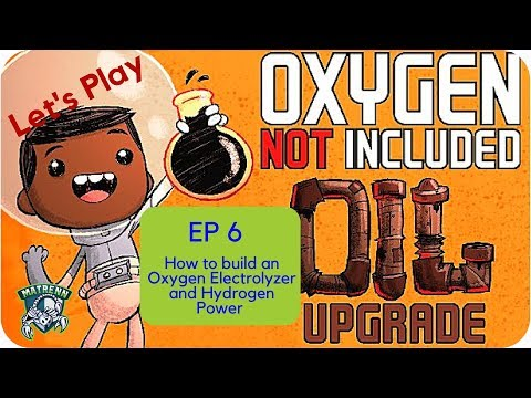 Oxygen Not Included EP6: How to Build an Oxygen Electrolyzer and Hydrogen power system
