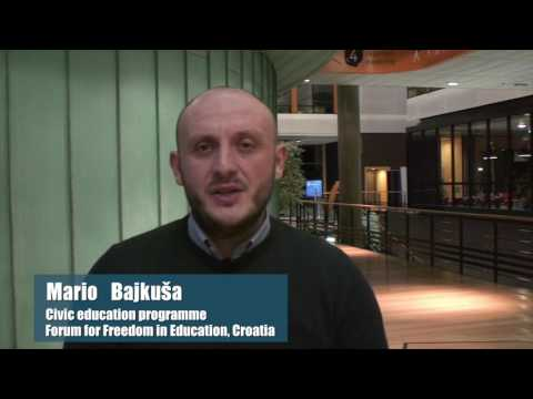 Video statement by Mr Mario Bajkuša, Civic education programme, Forum for Freedom in Education