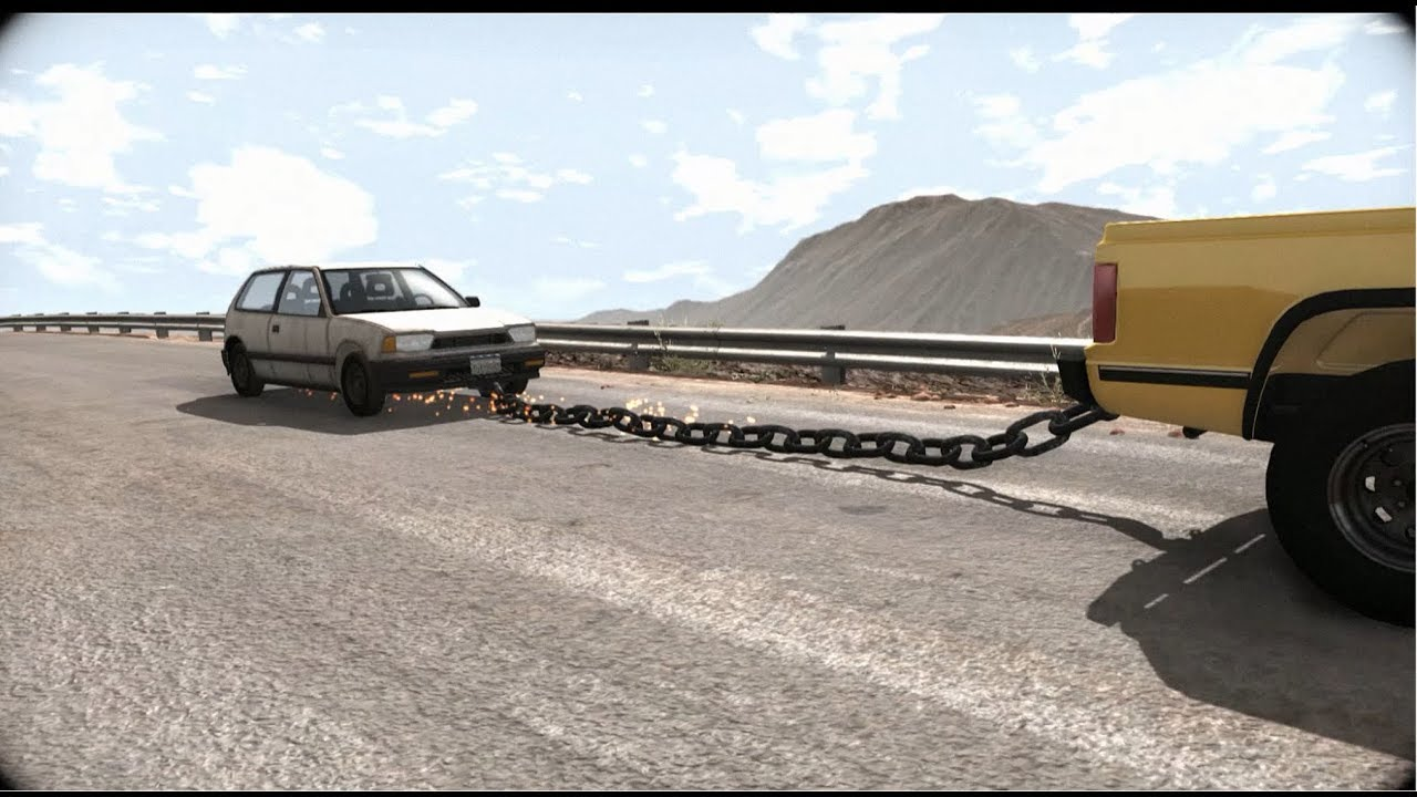 Beamng Drive Towing A Car With A Chain New Game Update 0 10