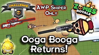 Zombs Royale - Tribal Head Hunter - Airdrop AWP Sniper Only Challenge!