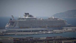 بالفيديو.. حادث يصيب أكبر سفينة سياحية فى العالم فى مارسيليا