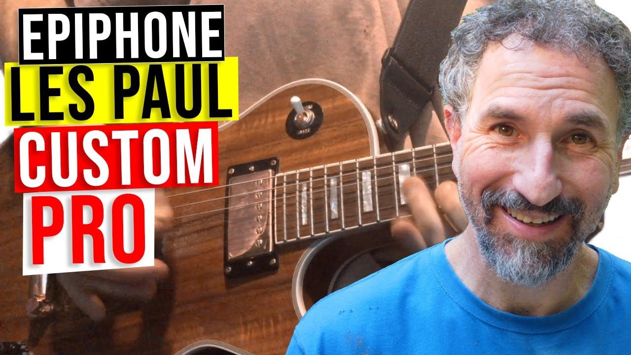 Epiphone Les Paul Custom Pro Koa Close Up Demo