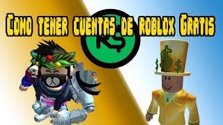 COMO TENER CUENTAS DE ROBLOX GRATIS