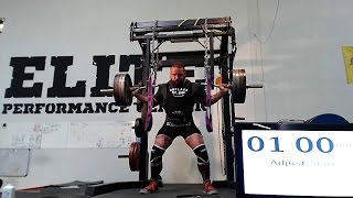 Guinness World record Squat in one minute with 505lbs for 22 reps 19 good