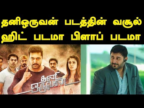 Thanioruvan Movie Final Worldwide Boxoffice Collection | HIT or FLOP | Tamil Boxoffice
