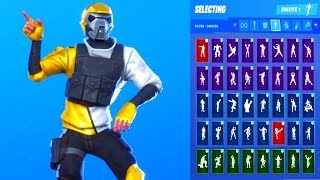 *NEW* Fortnite HARD CHARGER Skin Showcase with All Dances & Emotes Season 10 Outfit