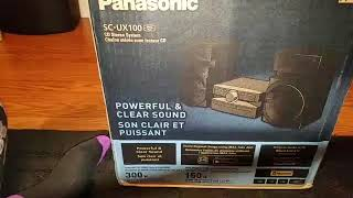 Panasonic SC-UX100 (SA-UX100) 300W Stereo system unboxing