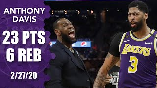 Anthony Davis charges the Lakers without LeBron vs. the Warriors | 2019-20 NBA Highlights