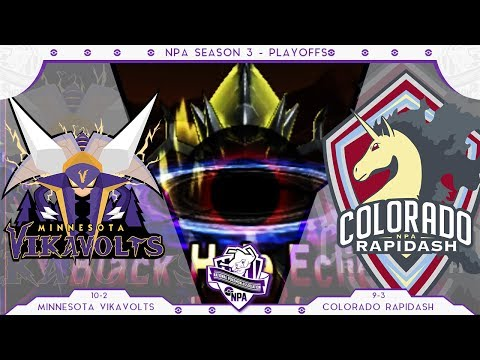 Into the Darkness! | Minnesota Vikavolts VS Colorado Rapidash PLAYOFFS NPA S3  | Pokemon Sun Moon