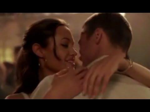 Angelina Jolie In Hot Scene Angelina Jolie Romantic Scene Angelina Jolie Kiss Brad Pitt
