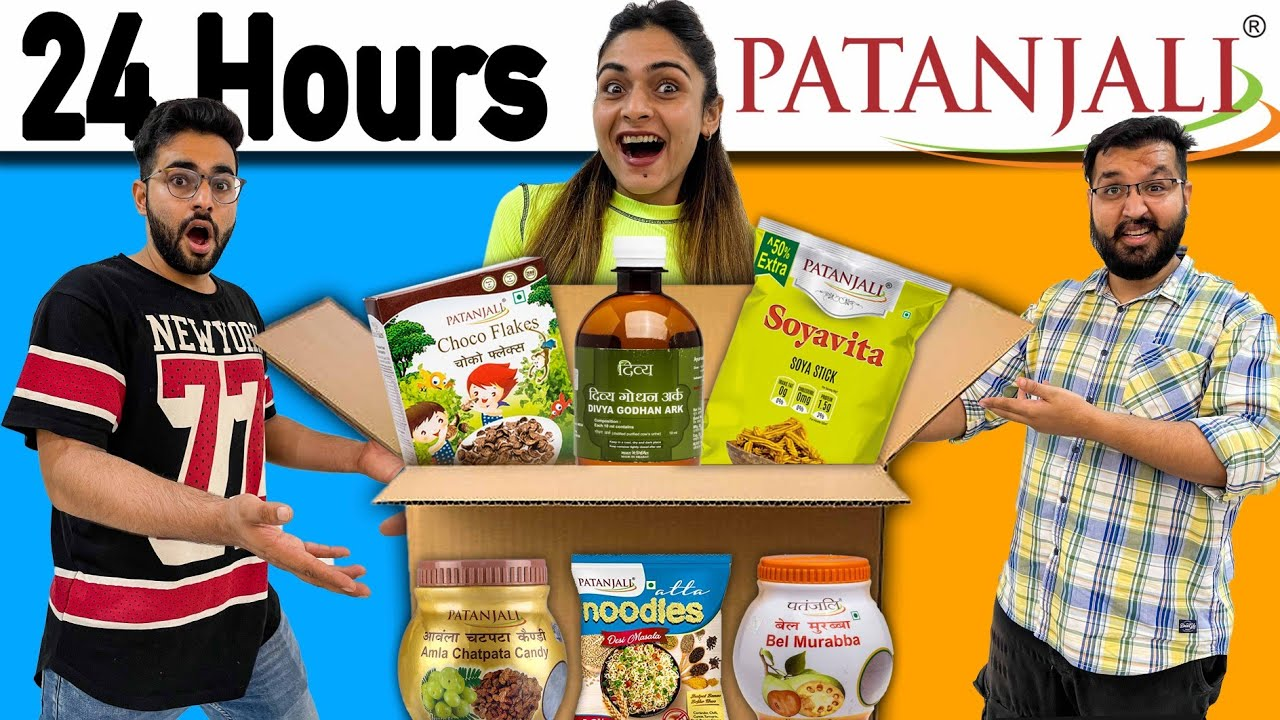 Only Eating PATANJALI PRODUCTS For 24 Hours FOOD CHALLENGE 😭