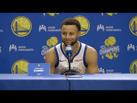 Stephen Curry's Golden State Warriors Press Conference | NBA Media Day 2018