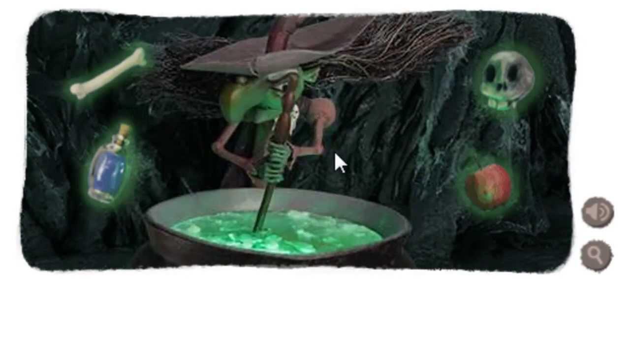Halloween Witch Google Logo Doodle Halloween 2013 Youtube