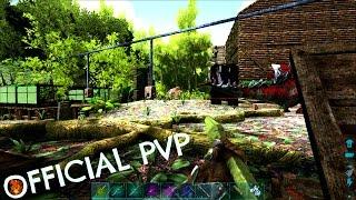 RAIDING THE SWAMP CLIFF - Official PVP (E104) - ARK Survivial