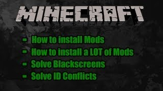 Minecraft Tutorial: How to - Install Mods | Solve ID Conflicts