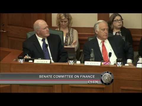 Senate Finance - SB 2: Sens. Seliger and Bettencourt on Politicizing Appraisals - March 14, 2017