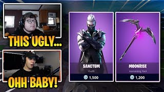 STREAMERS REACT TO THE *NEW* SANCTUM SKIN! ( IT'S SICK!) | Trippin Clips Fortnite