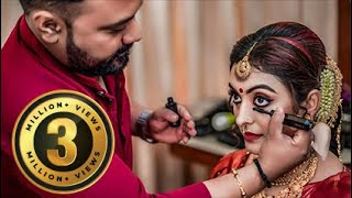 Durga Krishna wedding makeup I Kerala celebrity bridal makeup I Happy Bride Stories I Vikas Vks