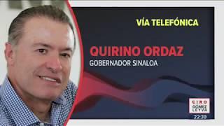 Gobernador de Sinaloa habla sobre balaceras en Culiacán | Noticias con Ciro Gómez Leyva