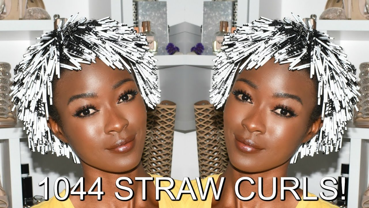 1044 Straw Curls In 15 Hours Coffee Straws On Natural Hair