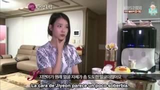 [120711] IU le hace una visita a Jiyeon - Sub Español