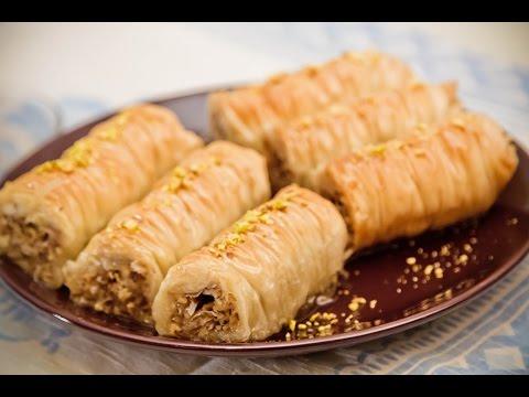 Пахлава. Рецепт приготовления. Baklava rolls.