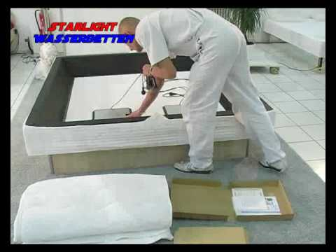 das wasserbett aufbau workshop teil1 youtube. Black Bedroom Furniture Sets. Home Design Ideas