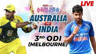 Live: Australia Vs India 3rd ODI Cricket Match English Commentary | SportsFlashes