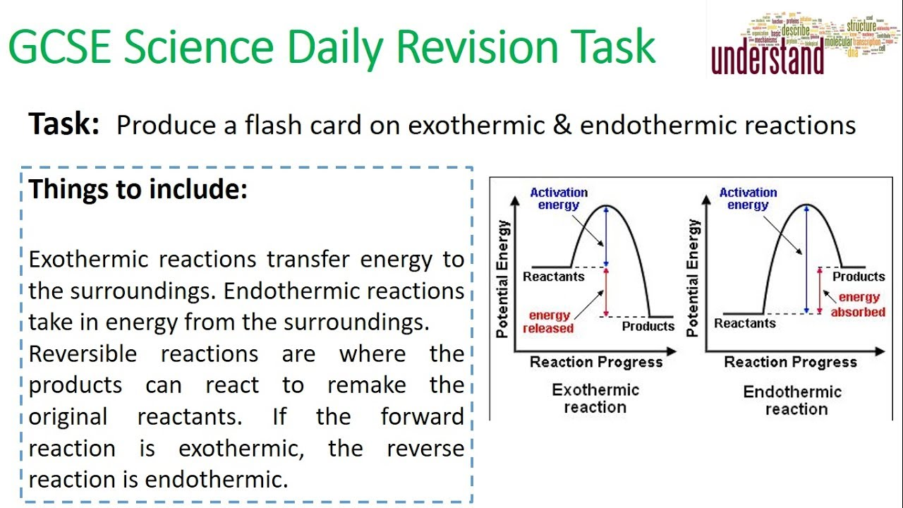 GCSE Science Daily Revision Task 43:  Endo & Exothermic Reactions - YouTube