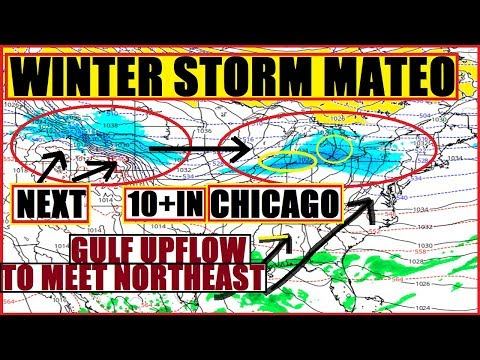Winter Storm MATEO Rips Across Midwest, CHICAGO N.INDIANA, DETROIT. BUFFALO is Next