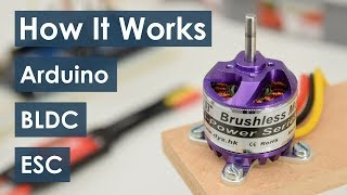 How Brushless Motor and ESC Work and How To Control them using Arduino