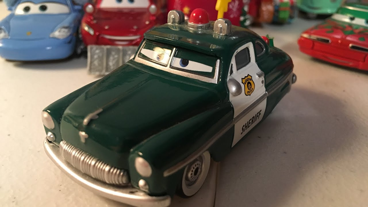 Disney Cars Christmas Sheriff Diecast Review Youtube