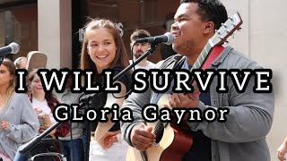 WOW..HOW TO ATTRACT A CROWD IN 5 SECONDS - I Will Survive - Gloria Gaynor | Allie Sherlock & friends
