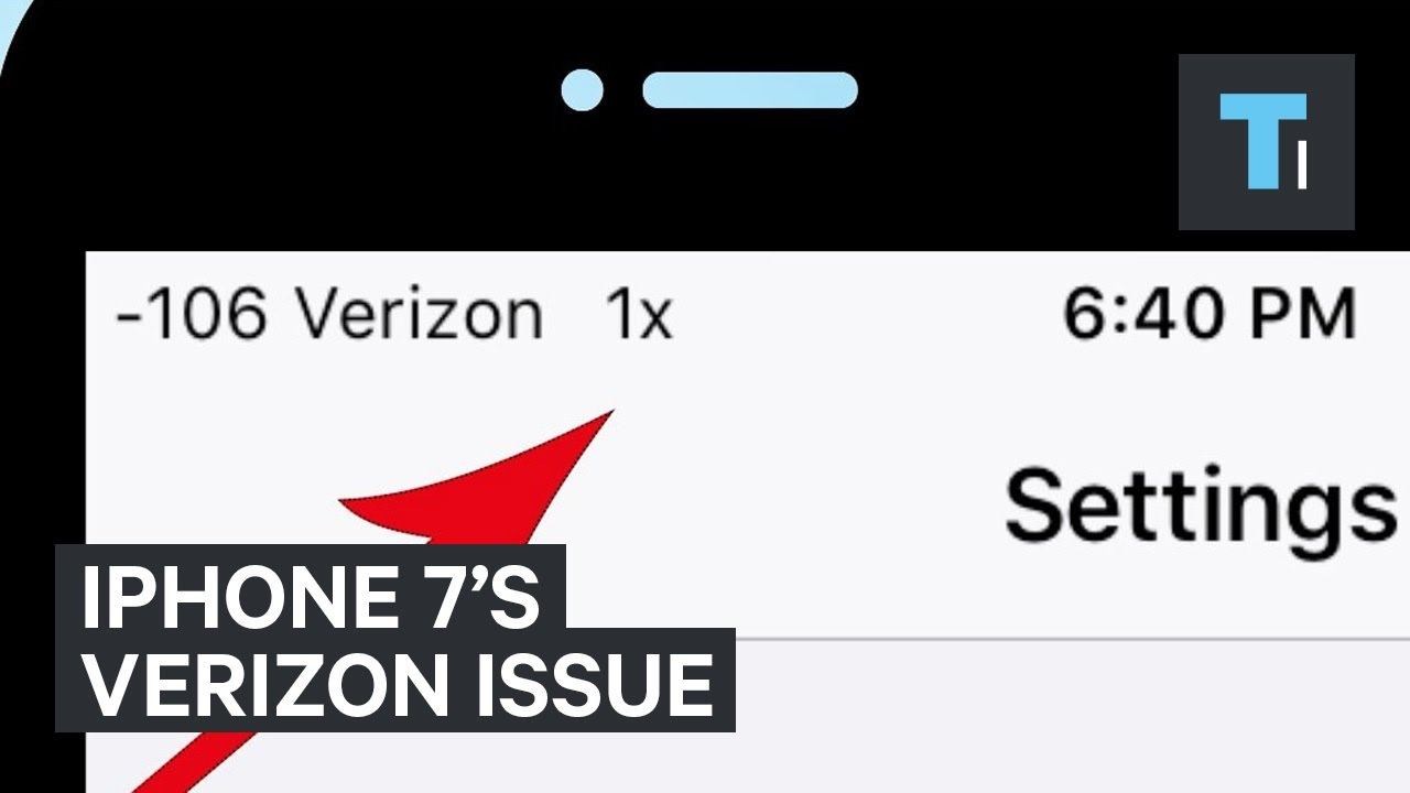 How To Fix The iPhone 7's Verizon Connection Issue