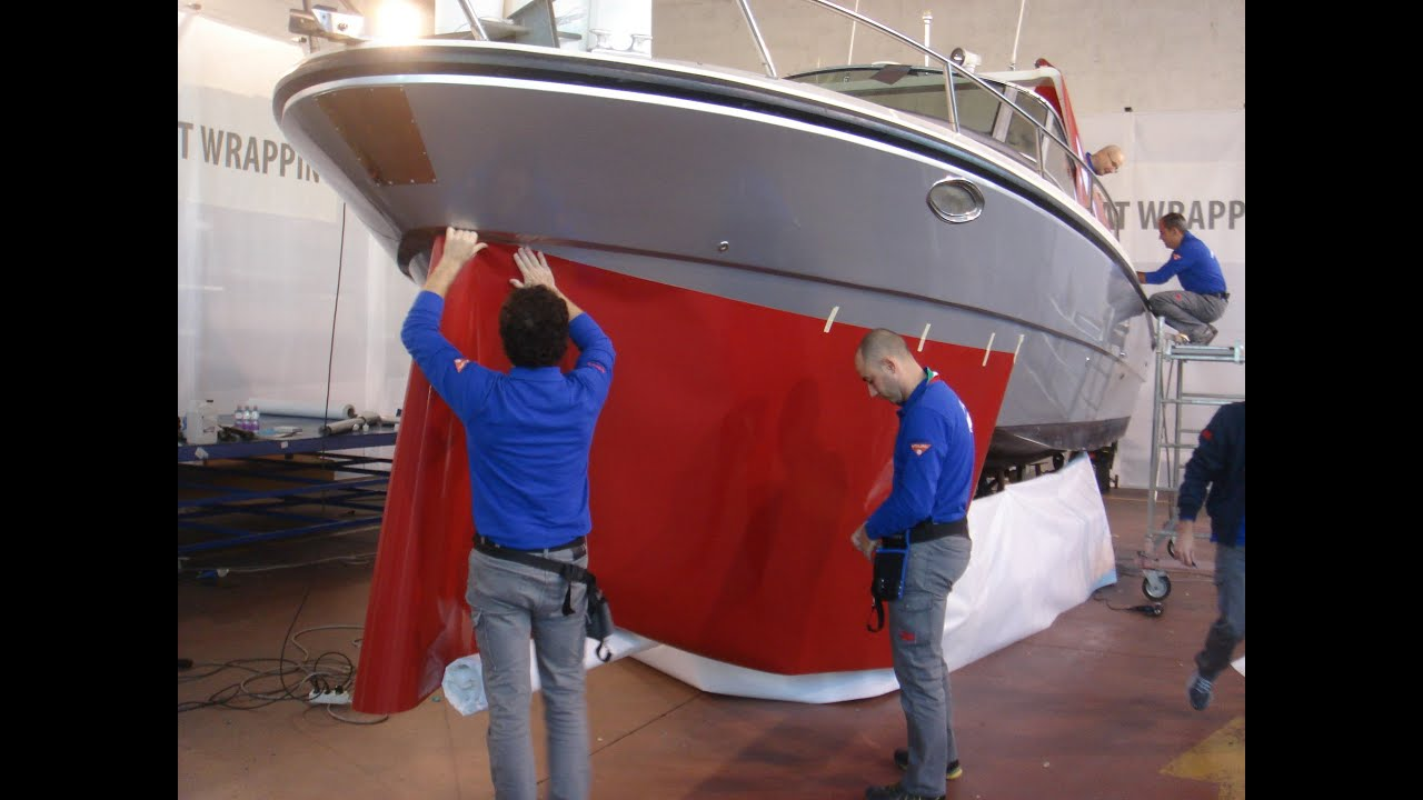 Boat Wrapping La Nuova Opportunit 224 3m Youtube