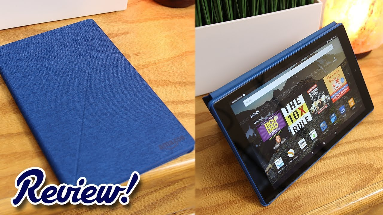 Amazon Fire Hd 10 With Alexa Official Flip Cover Case Review Youtube