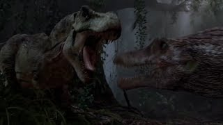 TYRANNOSAURUS REX vs SPINOSAURUS!!! (Jurassic Park 3 DEBATE)