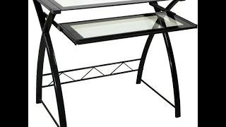 Bello CD8855 Easy No Tool Black Computer Desk