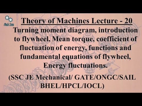 Theory of Machines Lecture 20: Turning moment diagram, Mean torque, Energy fluctuations.