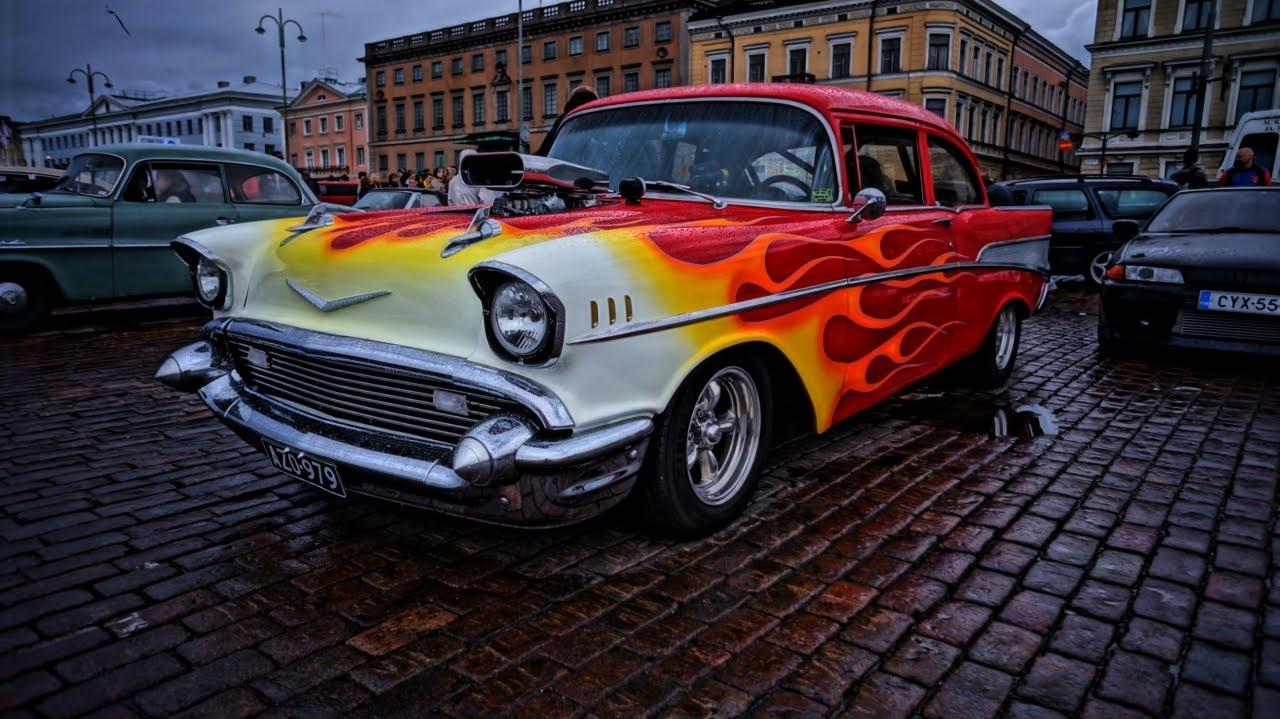 Muscle Car Spectacle Helsinki Cruising Night 6 2012 Youtube