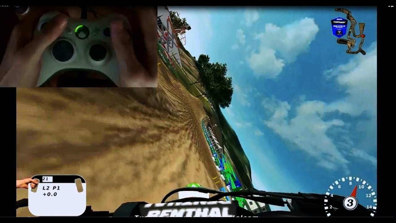MX Simulator Controller View Millville 2016 Lap