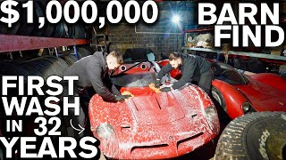 $1,000,000 Barn Find: First Wash in 32 Years! Bizzarrini P538