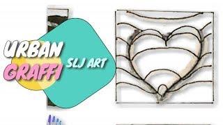como dibujar un corazon 3d entre lineas how to draw 3d heart paper line