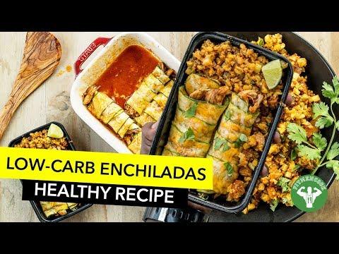 Meal Prep Low Carb Enchiladas with Spanish Cauliflower Rice