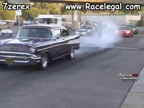 1957 Chevrolet Bel Air Drag Racing Racelegal 7 10 2014 Youtube