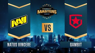 CS:GO - Gambit vs. Natus Vincere [Dust2] Map 2 - DreamHack Masters Spring 2021 - Grand-final