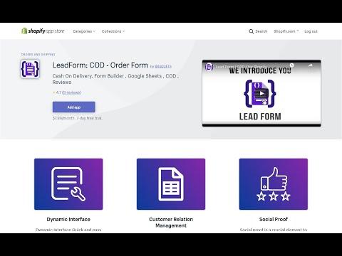 Shopify COD Form Builder + Google Sheets