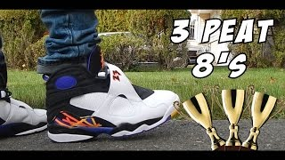 3 times the charm air jordan 8 sneaker review w on feet