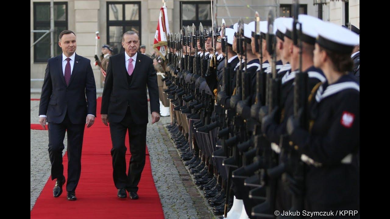 Ceremonia oficjalnego powitania w Polsce Prezydenta Turcji Recepa Tayyipa Erdoğana
